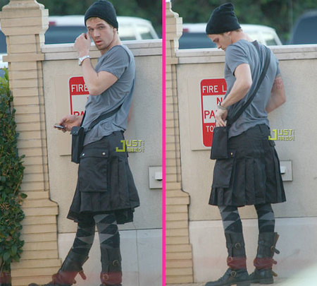 Cam Gigandet usa falda