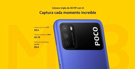 Cámaras del POCO M3 de Xiaomi en México