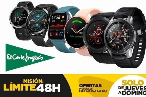 17 smartwatches y pulseras deportivas rebajados en el Límite 48 Horas de El Corte Inglés: modelos de Garmin, Huawei, Polar, Fitbit o Samsung con descuentos de hasta un 33%