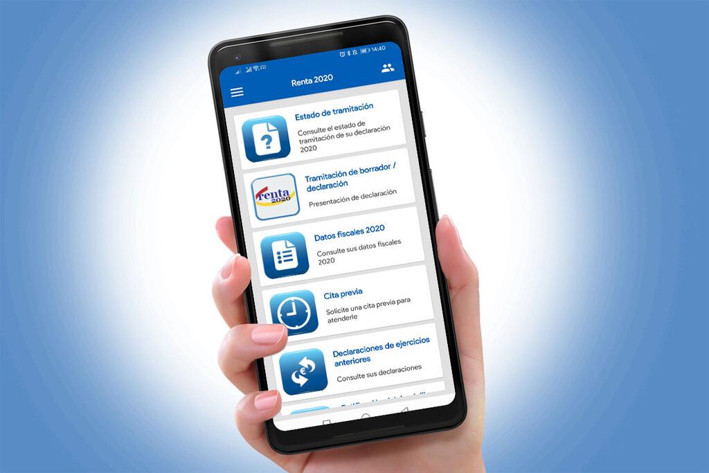 Renta 2020: cómo consultar el borrador y enseñar la declaración en un terminal Android