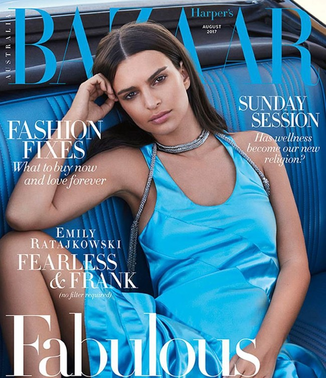 Harpers Bazaar Australia August 2017 Emily Ratajkowski By Pamela Hanson 1