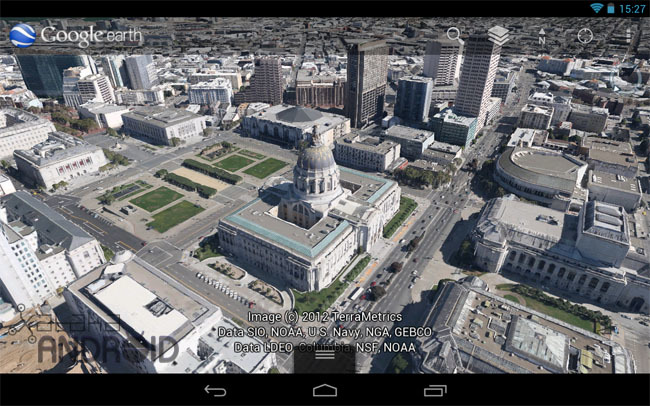 Google Earth para tablets Android