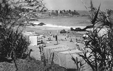 Balneario Caleta Abarca De Vina Del Mar En 1940 Chile
