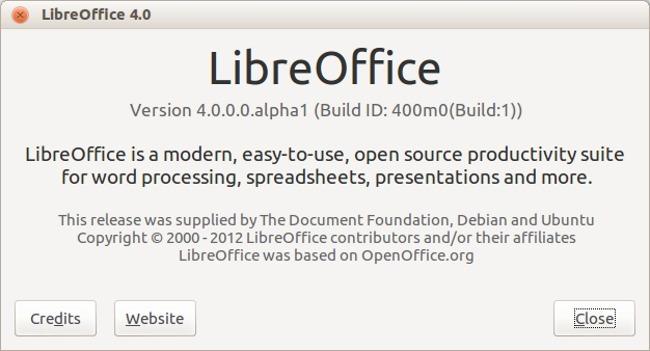 LibreOffice ya prepara la versión 4.0 que tiene su primera versión alpha