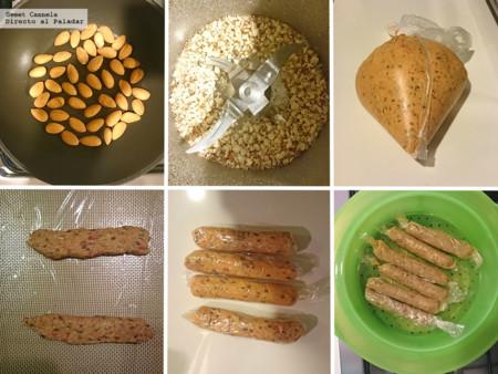 Preparacion Salchichas Vegetarianas