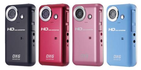 Videocámara compacta DXG que graba a 720p