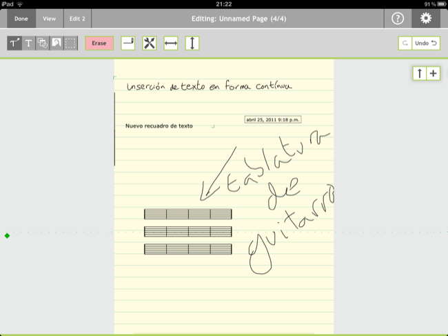 Note Taker HD, edición general