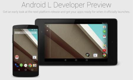 Ya disponible las imágenes de fábrica de Android L Developer Preview para Nexus 5 y Nexus 7