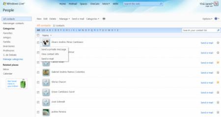 Windows Live People, contactos unificados para todos los servicios WL