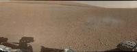 El robot Curiosity envía la primera panorámica del cráter Gale