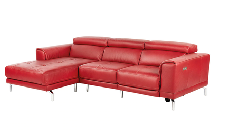 Sofá chaise longue rojo con descuento