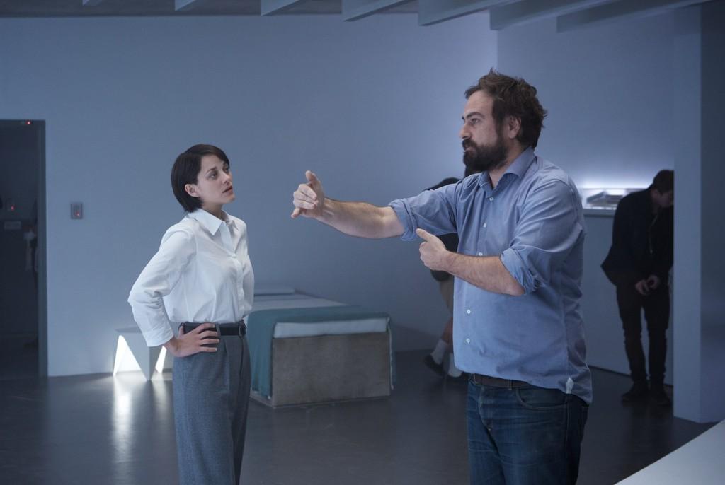Marion Cotillard y Justin Kurzel en el rodaje
