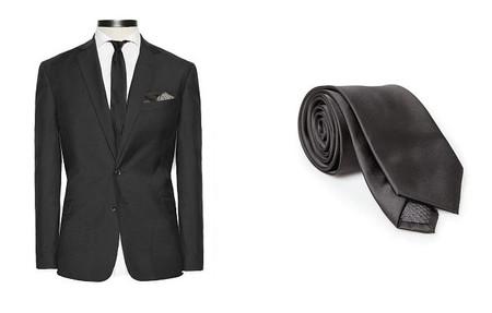 traje negro HE by Mango