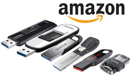 Ofertas en memorias USB de SanDisk y Lexar en Amazon