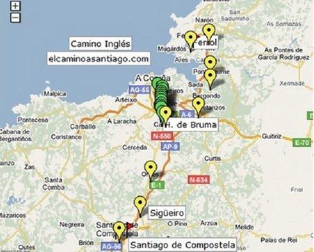 Camino Inglés-Mapa