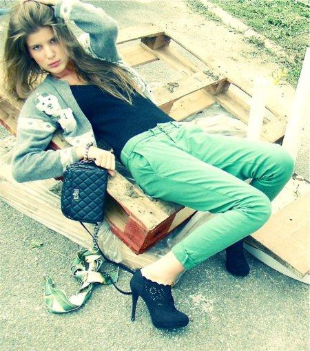 Pantalones verdes Eva