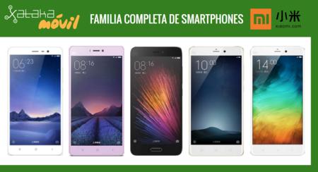 Así queda el catálogo de smartphones Xiaomi tras la llegada del Xiaomi Mi 5 y Xiaomi Mi 4s
