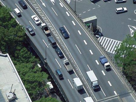 Carretera vista aerea