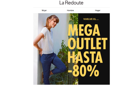 Vuelve el Mega Outlet de La Redoute con descuentos de hasta el 80%