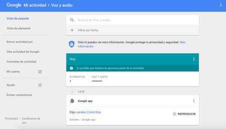 Google Actividad