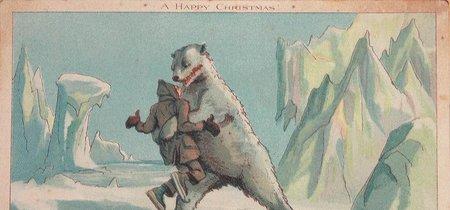 Ya puedes destrozar la Navidad de tus seres queridos con estas postales creepys y vintages recopiladas por Horror Losers