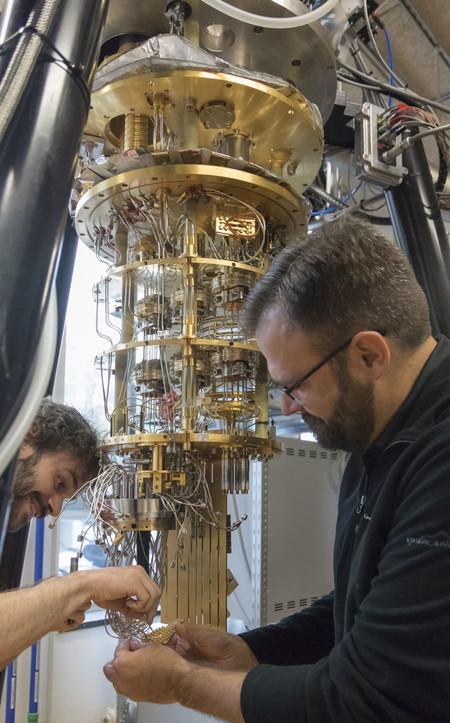 el interior de un ordenador cuántico