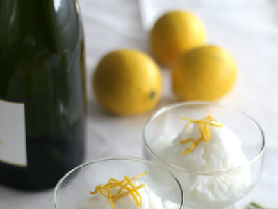 Sorbete de limón al cava. Receta
