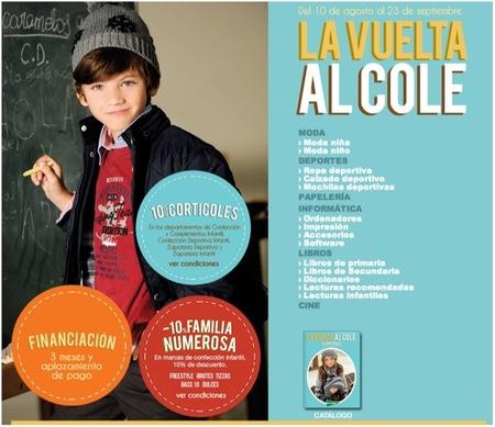 Ha terminado la promoción de La Vuelta al Cole de El Corte Inglés 2012