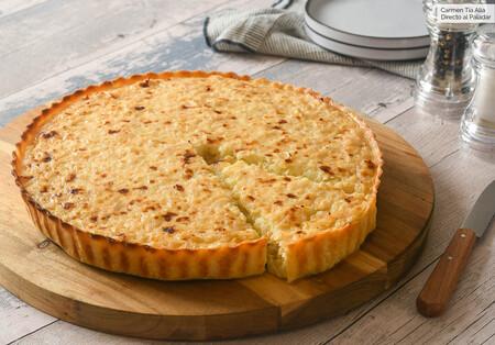 Receta de tarta salada de cebolla y queso, jugosa y con mucho sabor
