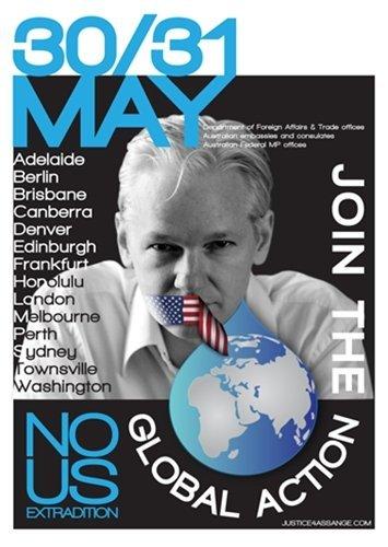 Convocadas concentraciones de apoyo a Assange