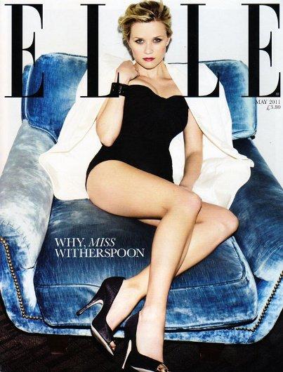 Una irreconocible Reese Witherspoon en la portada de mayo de Elle UK