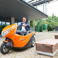 Huka Pendel ha conseguido que la silla de ruedas no sea una barrera para disfrutar de un scooter