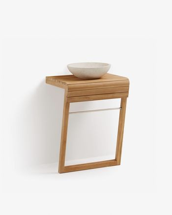 Kuveni 60 x 92 cm wall-mounted bathroom cabinet