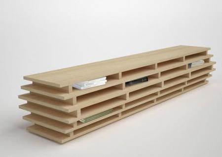 Una estantería horizontal para libros