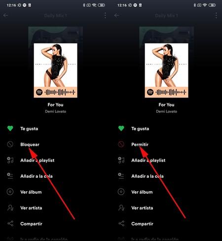 Spotify Saltar Canciones