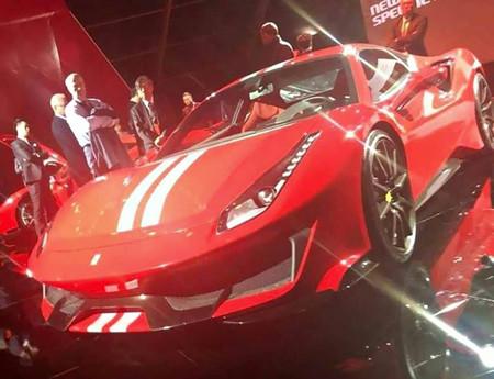 Y este es el Ferrari 488 Speciale al descubierto antes de hora