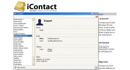 iContact, ten tus contactos de GMail accesibles desde el escritorio