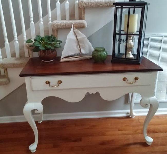 Sobres de madera y patas pintadas de blanco os gusta for Blanco tiza pintura