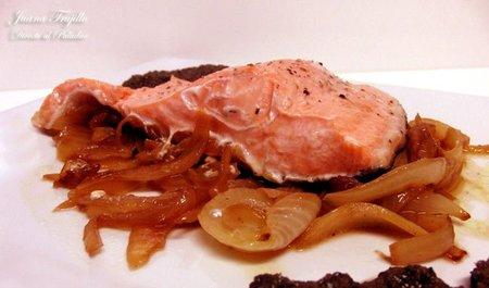 Supremas de salmón con tapenade. Receta