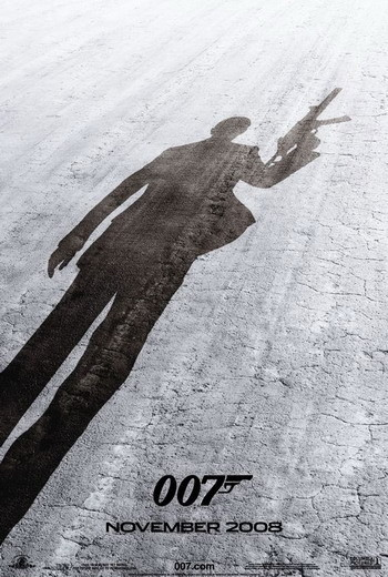 Teaser póster de 'Quantum of Solace', lo nuevo de James Bond