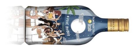Botella Ron Barceló Trasera