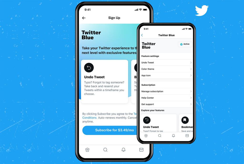 Llega Twitter Blue, el servicio de pago de Twitter que permite deshacer tweets y crea el