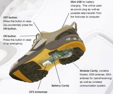 Zapatillas con GPS, para no perderse nunca