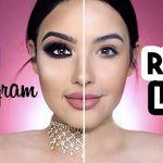 Maquillaje de Instagram vs. el de todos los días, la nueva tendencia viral del momento