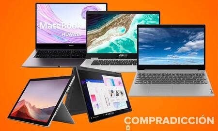 Portátiles y convertibles rebajados en Amazon: modelos de Lenovo, Microsoft o ASUS a precios más asequibles