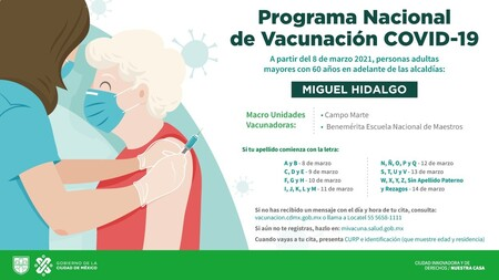 Calendario Vacunacion Covid 19 Cdmx Miguel Hidalgo Azcapotzalco