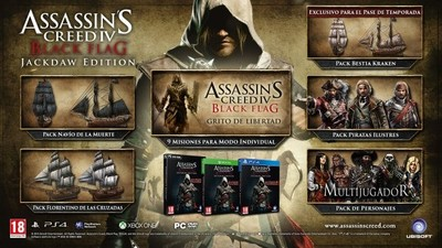 Assassin's Creed IV: Black Flag Jackdaw Edition listo para el 27 de marzo