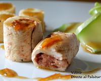 Pollo relleno de foie y naranja con cuscús