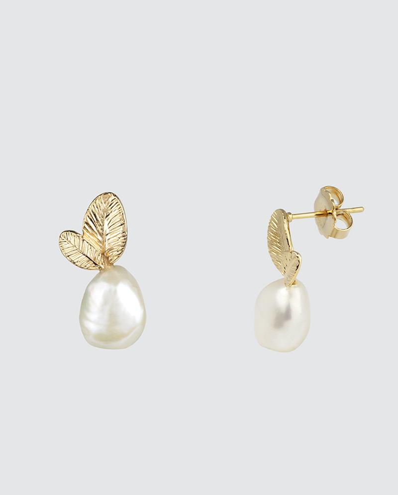 Pendientes Vidal & Vidal dorados con perla