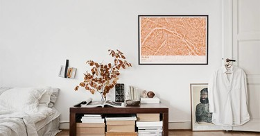 ¡Inspírate! Los mapas, una buena idea para vestir tus paredes y darles un toque sofisticado